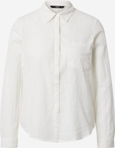 ONLY Blouse 'ONLJEANETTE L/S KNOT SHIRT WVN' in de kleur Offwhite, Productweergave