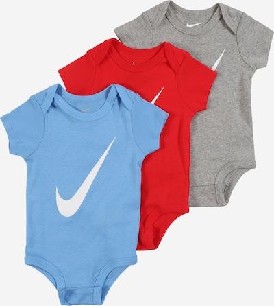 Nike Sportswear Pijama entero/body en azul / gris / rojo / blanco, Vista del producto