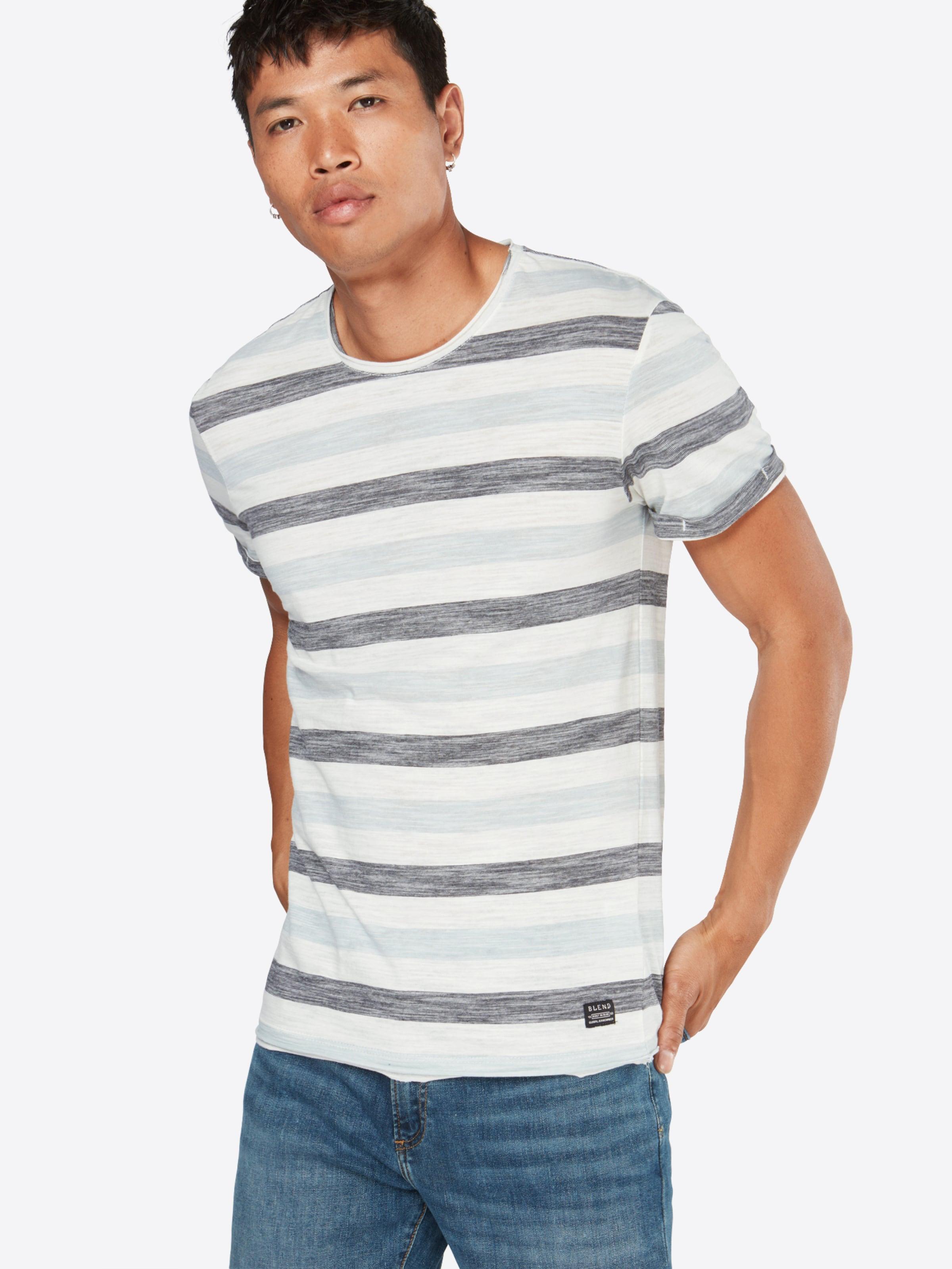 Bleu Blend shirt T Blanc ClairNoir En hQdxBostrC