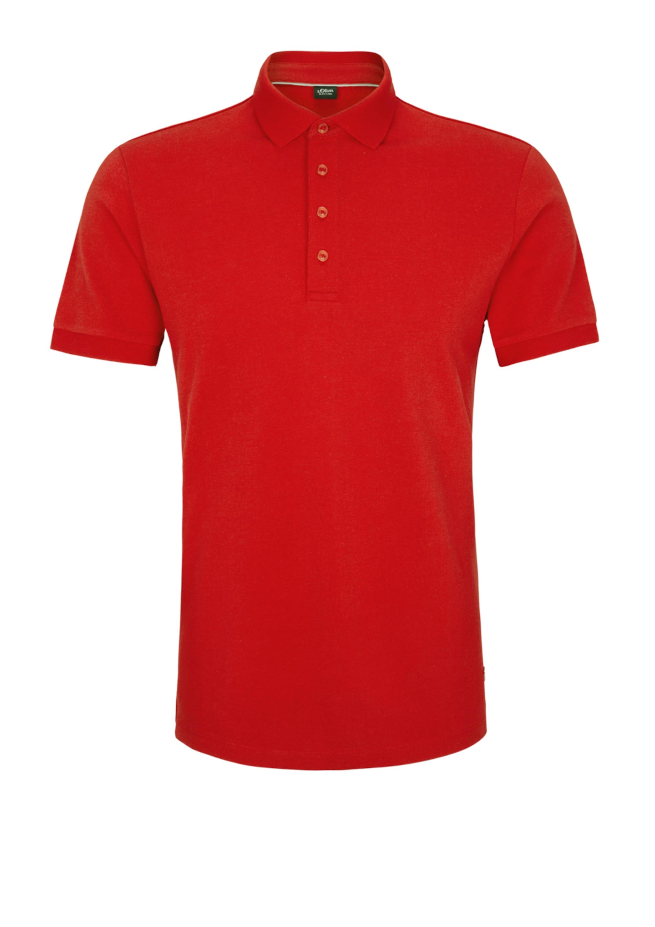 S In Label oliver Black Feuerrot Poloshirt 1cTKlFJ