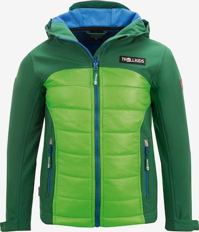 TROLLKIDS Softshelljacke 'LYSEFJORD' in grün / neongrün, Produktansicht