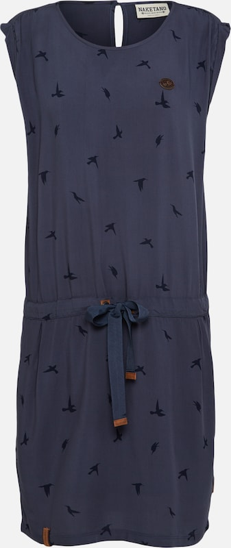 Naketano Robe Bräute' 'kleider En Bleu Machen FoncéNoir ZukOXiP