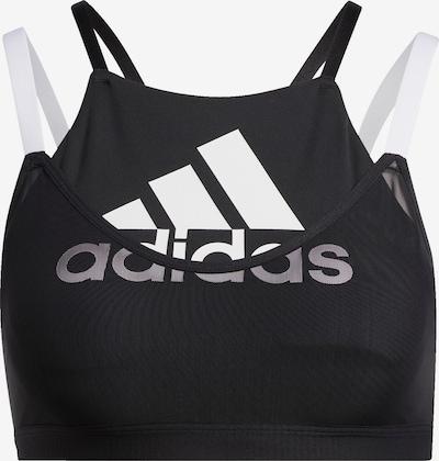 ADIDAS PERFORMANCE Sport-BH in schwarz / weiß, Produktansicht