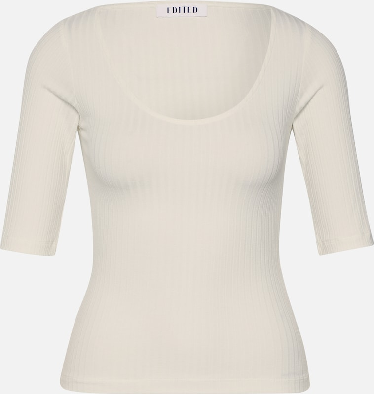 EDITED Shirt 'Fray' in creme, Produktansicht