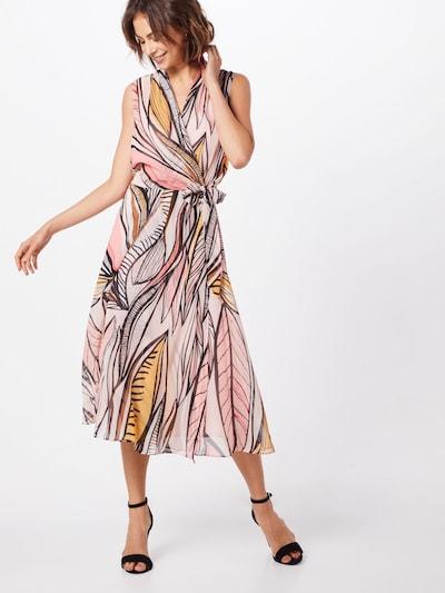 COMMA Kleid in gelb / pfirsich / pastellpink / schwarz, Modelansicht