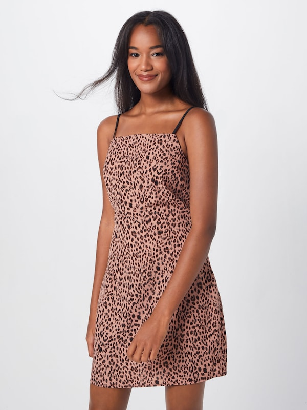 Print MarronRose Missguided Strappy En Dress' 'animal Robe Rjq354AL