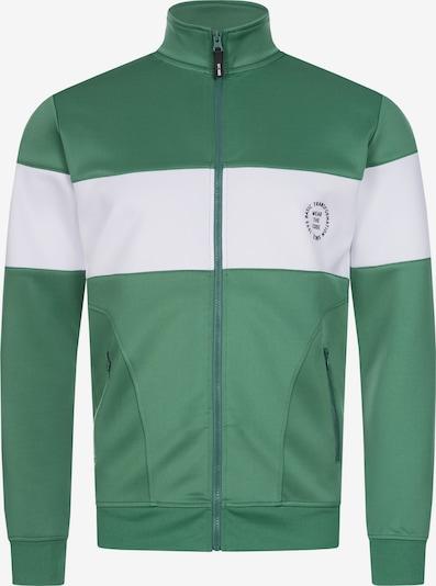INDICODE JEANS Sweatvest in de kleur Groen / Wit, Productweergave
