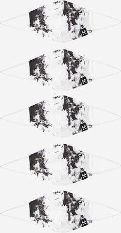 Grubenhelden Näomask 'Kohleoptik', värv valge