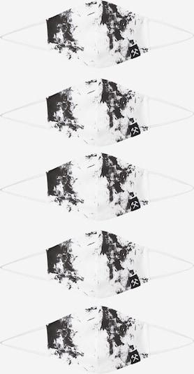 Grubenhelden Masque en tissu 'Kohleoptik' en blanc, Vue avec produit