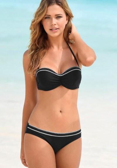 s.Oliver Beachwear Bügel-Bandeau-Bikini in schwarz / weiß, Modelansicht