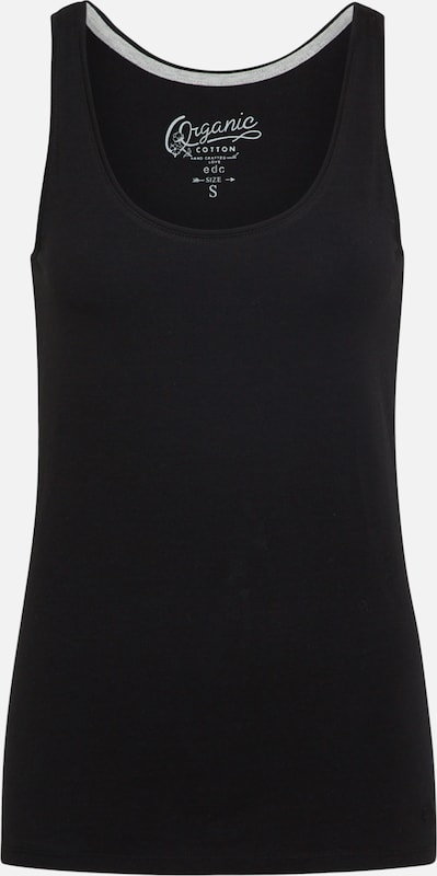 EDC BY ESPRIT Basic Tank Top in schwarz, Produktansicht