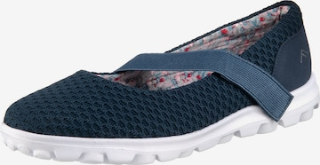 Freyling Ballet Flats with Strap in Blue