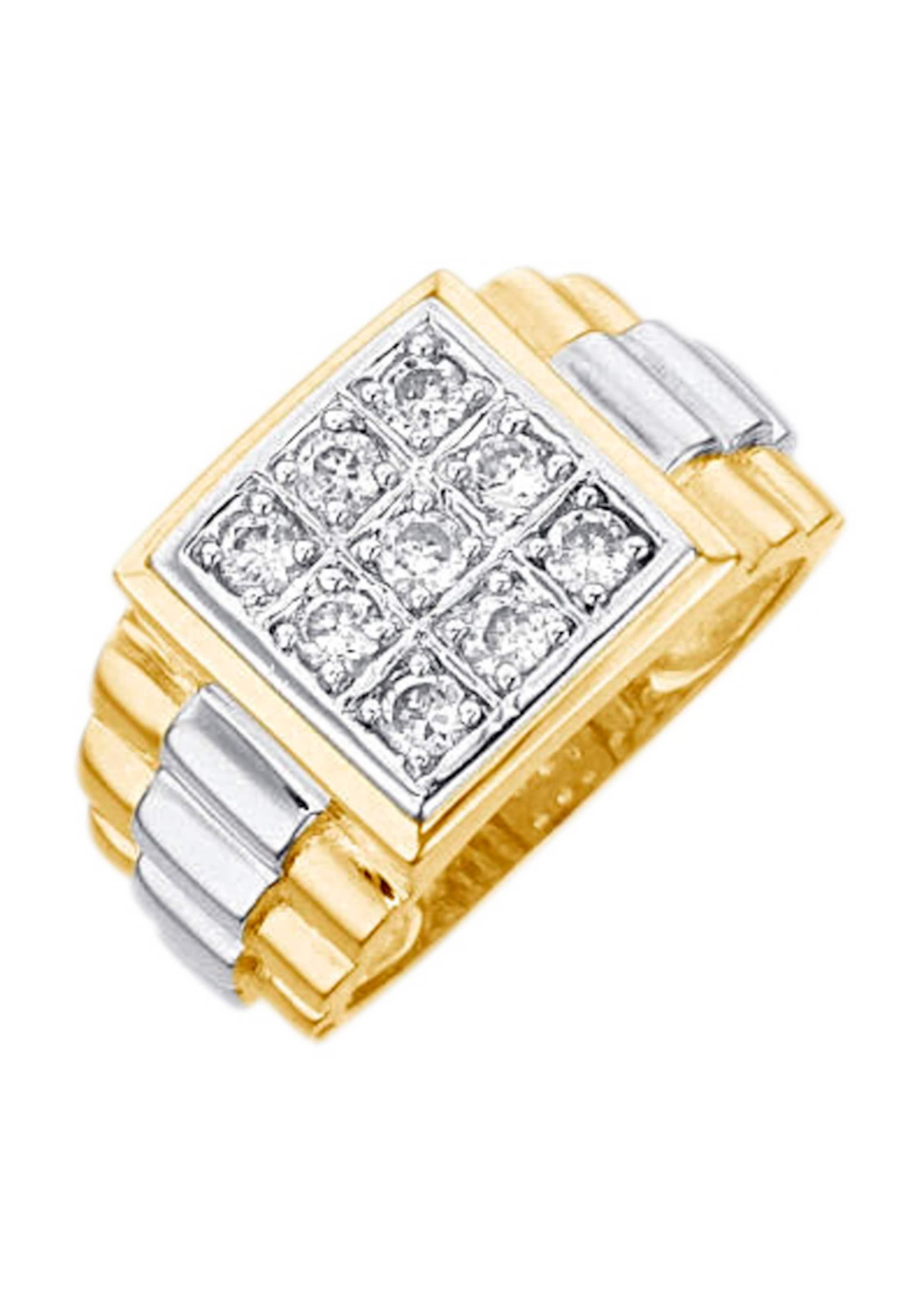 FIRETTI Ring / Siegelring mit Zirkonia Billig Verkauf Große Diskont Wirklich Online Verkauf Viele Arten Von TSI4W91