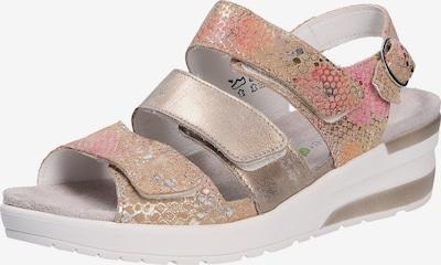 WALDLÄUFER Sandale in hellorange / rosé / eierschale, Produktansicht