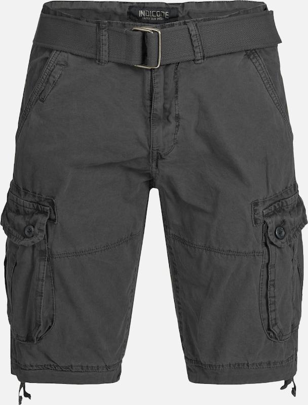 INDICODE JEANS Shorts 'Bolton' in dunkelgrau  Bequem und günstig