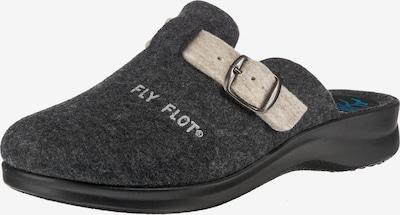 FLY FLOT Pantoffeln in hellbeige / dunkelgrau, Produktansicht