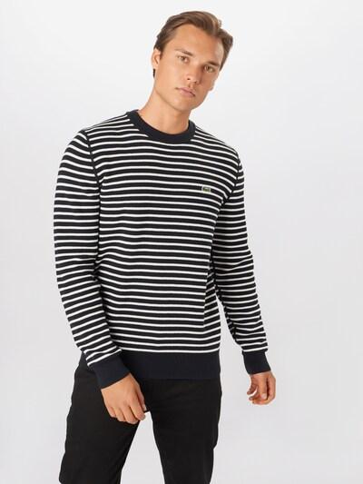 LACOSTE Sweter w kolorze granatowy / białym: Widok z przodu