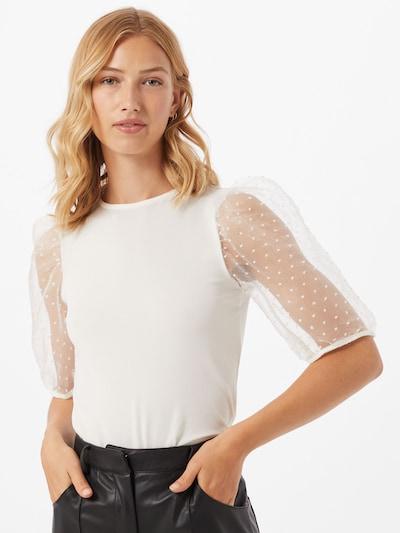 Gina Tricot Bluza 'Pia Organza' | bela barva, Prikaz modela