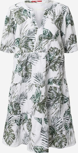 s.Oliver Kleid in grün / oliv / weiß, Produktansicht