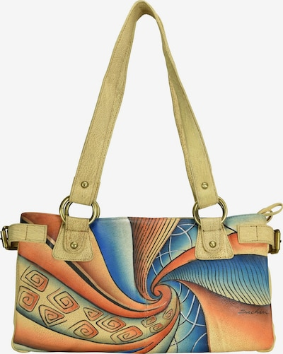 GREENLAND Art + Craft Henkeltasche Leder 36 cm Tabletfach in mischfarben, Produktansicht