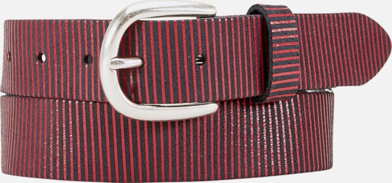 s.Oliver RED LABEL Ledergürtel im Streifen-Design