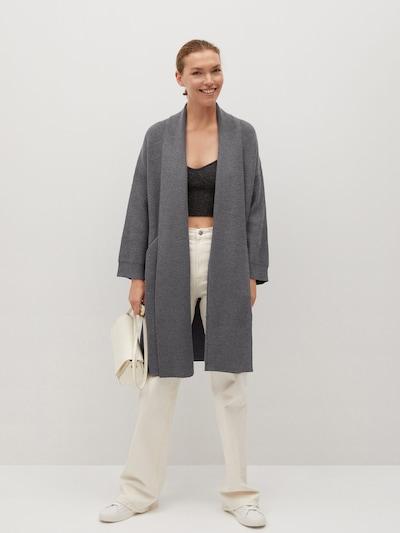 MANGO Pletený kabát 'Saint' - grafitová, Model/-ka