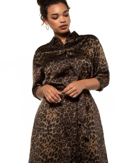 Rochie tip bluză 'Leo' Studio Untold pe maro / negru: Privire frontală