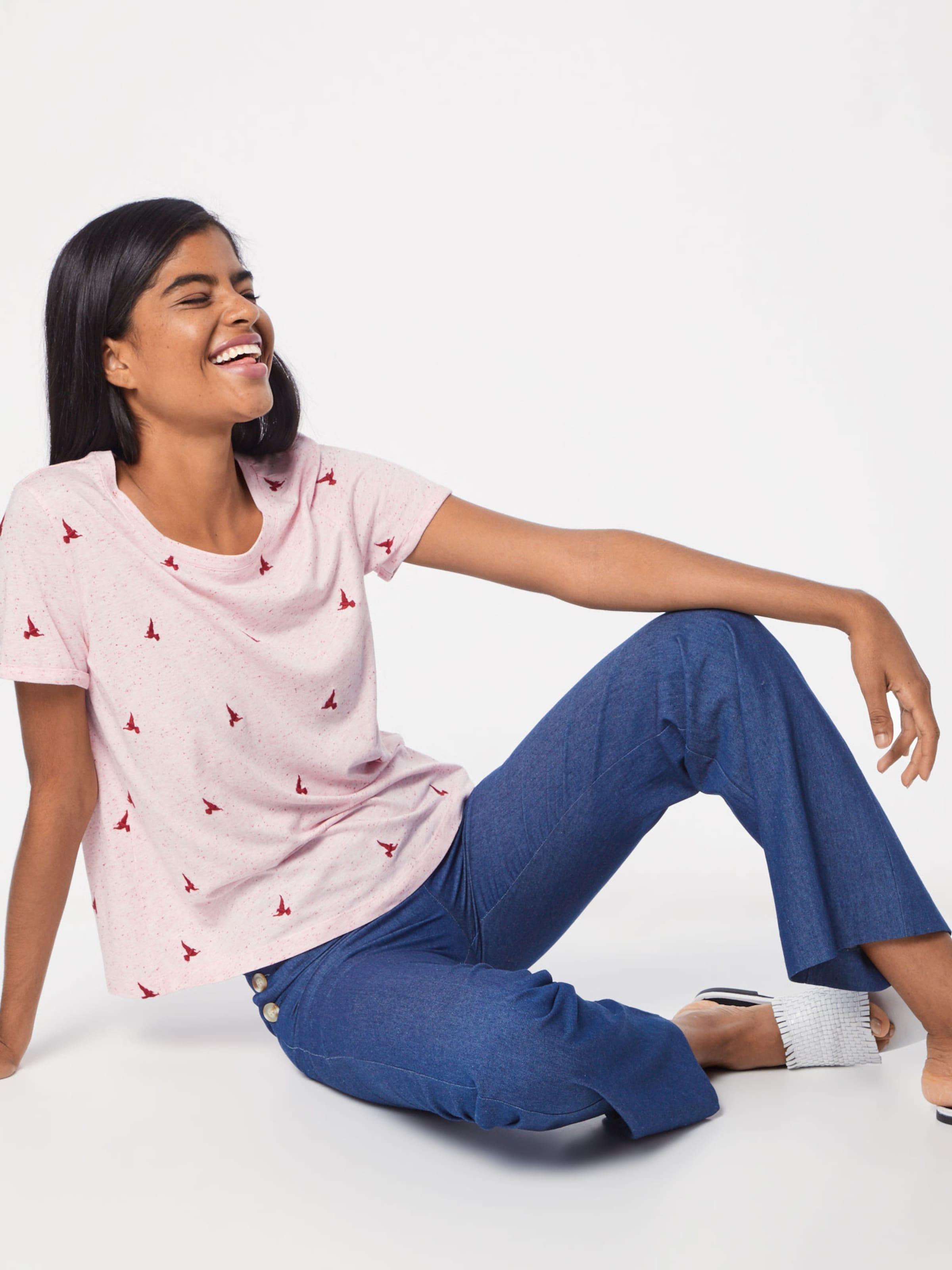 Red PinkKirschrot S Jerseyshirt oliver In Label c5Ajq3RL4