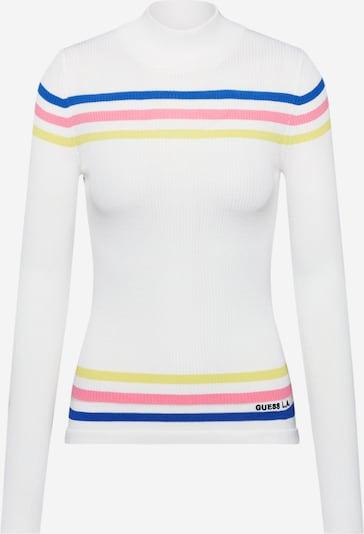 GUESS Pullover 'DEBRA SWEATER' in gelb / pink / weiß, Produktansicht