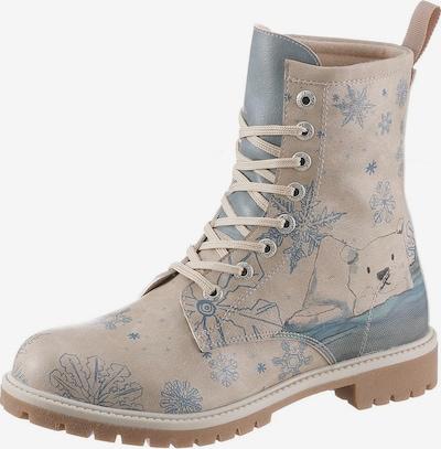 DOGO Stiefel  'Alaska' in beige / taubenblau / braun, Produktansicht