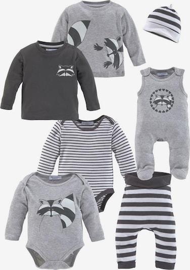 KLITZEKLEIN Neugeborenen-Geschenkset in grau / anthrazit / weiß, Produktansicht