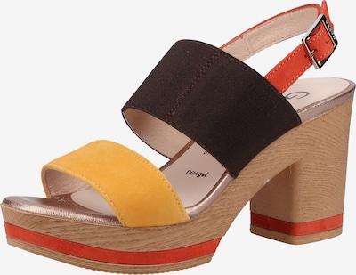 GADEA Sandalen in gelb / rot / schwarz, Produktansicht