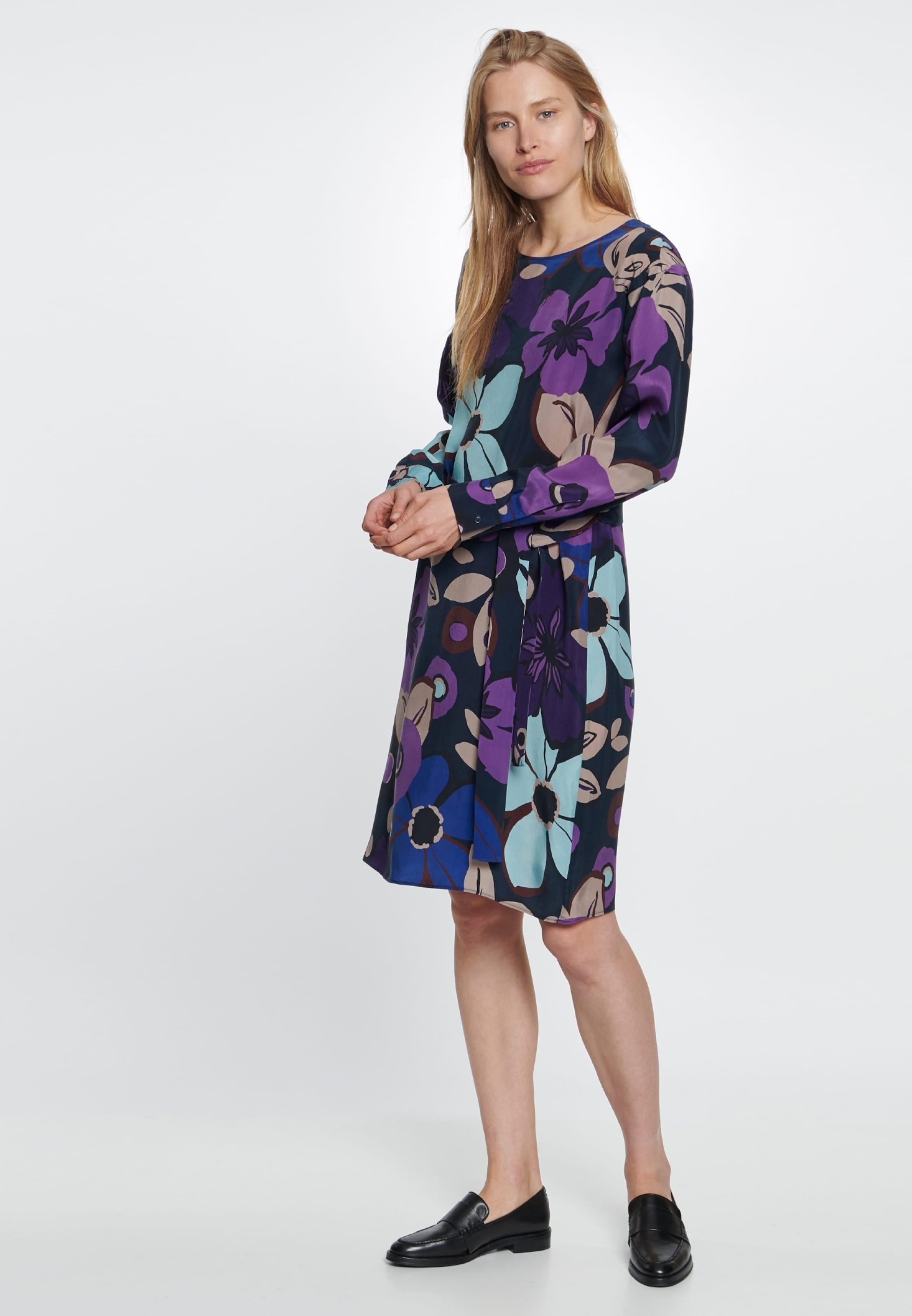 In BlauAzur Dunkellila Seidensticker Orchidee 'schwarze Dunkelblau Rose' Kleid GSUMqpVz