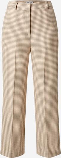 EDITED Spodnie w kant 'Juna' w kolorze karmelowym, Podgląd produktu