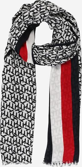 TOMMY HILFIGER Šála 'ICONIC CORPORATE' - tmavě modrá / červená / bílá, Produkt