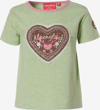 BONDI T-Shirt in beige / braun / grün / rot / weiß, Produktansicht