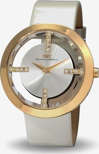 Rhodenwald & Söhne Armbanduhr in gold / perlweiß, Produktansicht