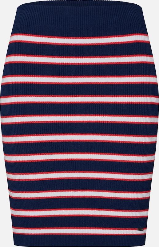 En 'alexandra Blanc Jupe Sweater Bleu Skirt' Guess MarineRouge QdtrshC