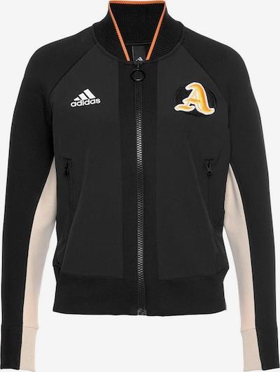 ADIDAS PERFORMANCE Sportief sweatvest in de kleur Beige / Geel / Zwart, Productweergave