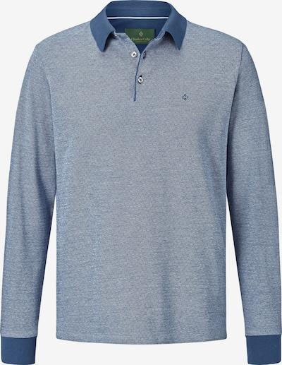 Charles Colby Langarm-poloshirt ' Earl Morgan ' in blau, Produktansicht