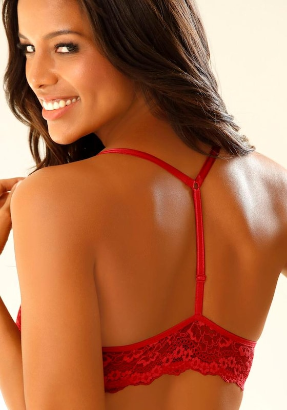 Lascana Push-up Bra With T-back And Front Closure