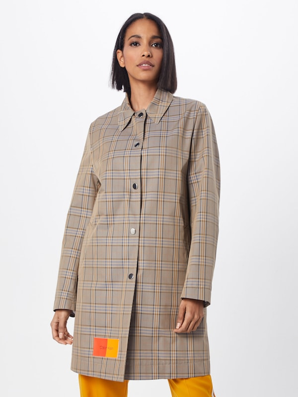 Tussenmantel 'cotton In Calvin Coat' Car Bruin Klein iPkZTwlXOu