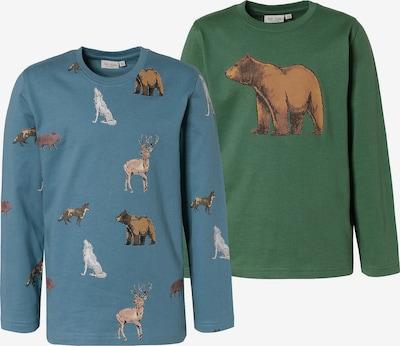 myToys-COLLECTION Shirts in rauchblau / dunkelgrün / mischfarben, Produktansicht