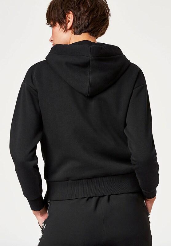 HALLHUBER Kurzes Sweatshirt mit Strassband