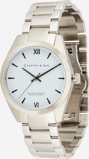 Analoginis (įprasto dizaino) laikrodis iš Kapten & Son , spalva - šviesiai pilka / juoda / sidabrinė, Prekių apžvalga