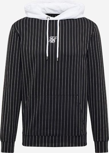 SikSilk Sweat-shirt en noir / blanc, Vue avec produit
