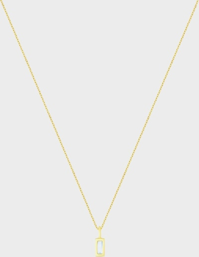 ID Fine Halskette 'Baguette' in gold, Produktansicht
