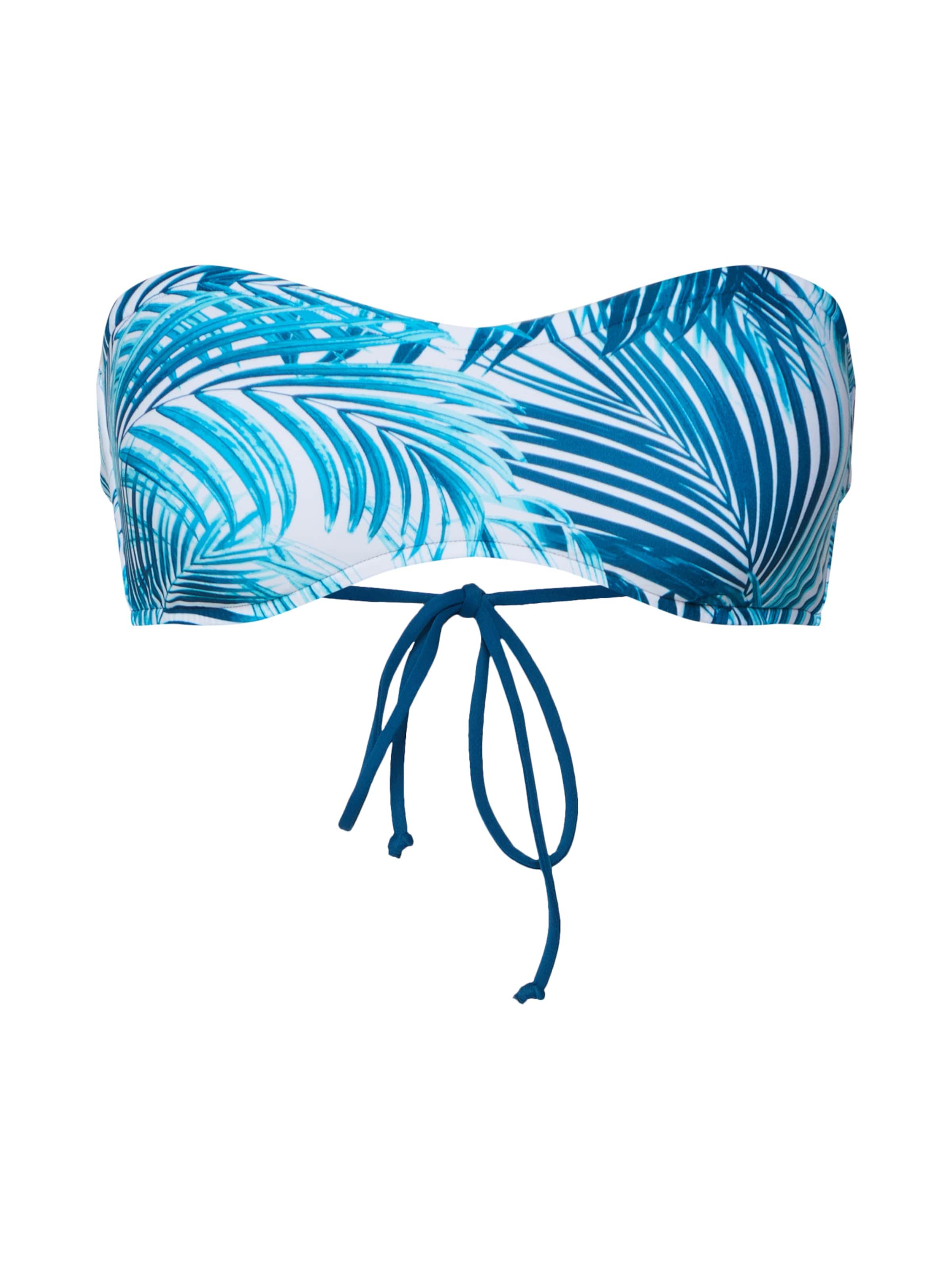 Rip Curl 'paradise Bandeau' Bikinitop BlauWeiß Palm In rhdBCxstQ