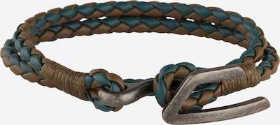 DIESEL Bracelet 'A-Bruny' en marron / pétrole, Vue avec produit