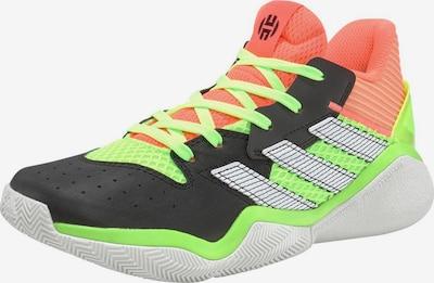 ADIDAS PERFORMANCE Basketballschuh 'Harden Stepback' in neongrün / koralle / schwarz / weiß, Produktansicht